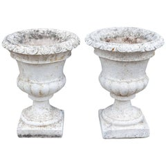 Pair of Vintage 1950s Portuguese Stone Urns