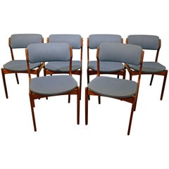 Set of Six Danish Modern Erik Buch for O.D. Mobler Teak Dining Chairs