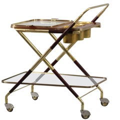 Bar Trolley Designed Cesare Lacca, Italy, 1950