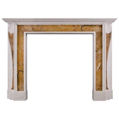 Georgian Style Fireplace with Inlaid Sienna Marble