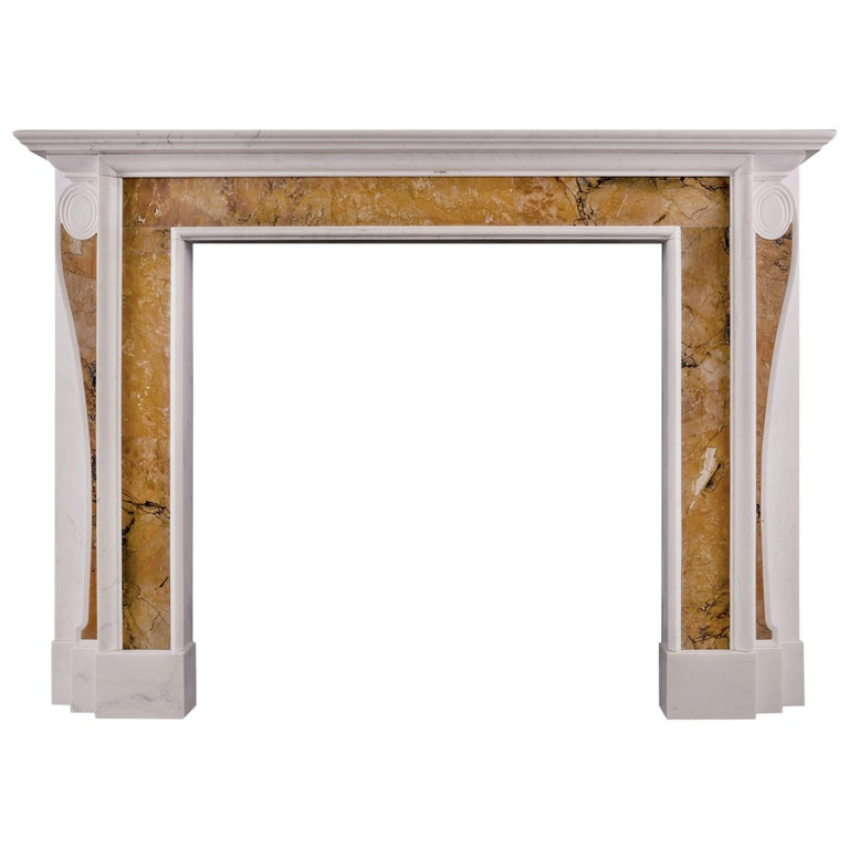Georgian Style Fireplace With Inlaid Sienna Marble For