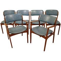 Set of Six Danish Modern Erik Buch for O.D. Mobler Teak Dining Chairs
