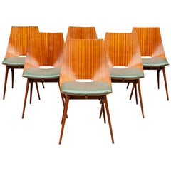1950s Italian Teak Bentwood Dining Chairs
