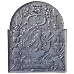 17th Century Dutch Louis XIV 'Coat of Arms' Fireback