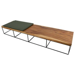 Long Wooden Suar Coffee Table or Bench, Organic Contemporary Modern Design