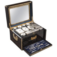 Coromandel Sterling Silver Vanity Box by James Vickery 19th Century