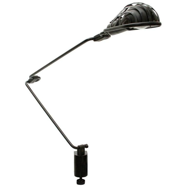 Black Clamp Lamp Igloo by Tommaso Cimini for Lumina, 1980s