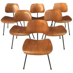 Six Early Mid-Century Modern Eames DCM Chairs