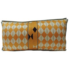 "Indian 19th Century ""Phulkari"" Artisanal Decorative Bolster Pillow"