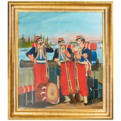 """The Chicago Zouaves"" Painting"