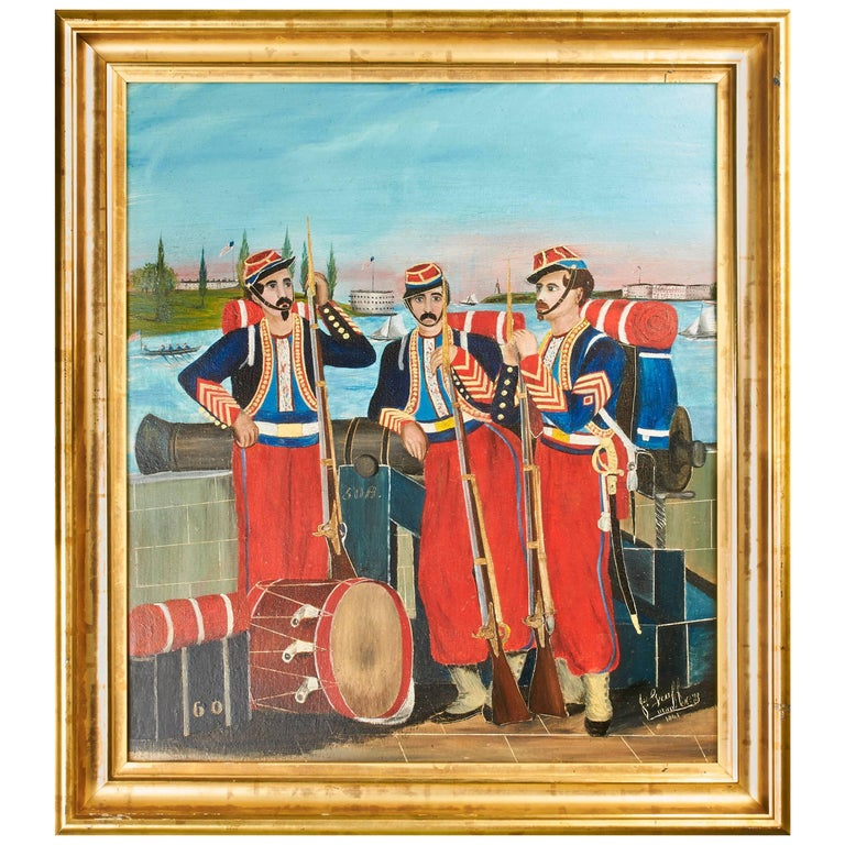"""""""The Chicago Zouaves"""" Painting"""