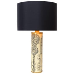 Piero Fornasetti 'Instrumenti' Table Lamp, circa 1950