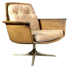 "Horst Brüning ""Sedia"" Leather Chair, for COR Germany, 1966"
