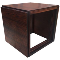 Danish Rosewood 'Cube' Nest of Three Tables by Kai Kristiansen for Vildbjerg