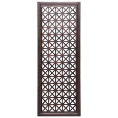 Late 19th Century Chinese Geometric Lattice Panel