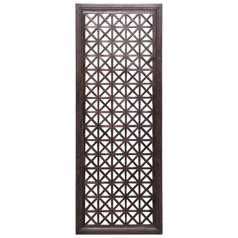 Late 19th Century Chinese Geometric Lattice Panel