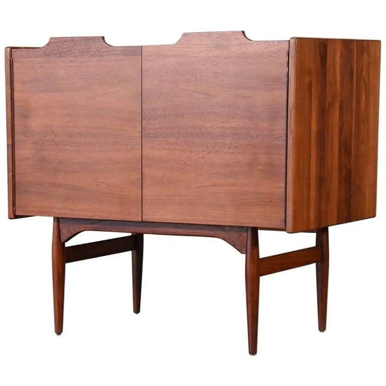 Walnut Three-Drawer Dresser by John Caldwell for Brown Saltman