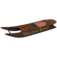 """Village Romp"" Folk Art Sled"