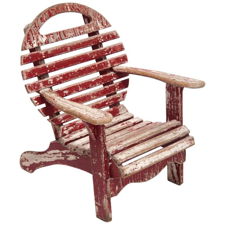 Child Deck Chair, Designer Unknown, USA, 1930s