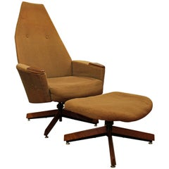 Mid-Century Modern Adrian Pearsall Craft Associates Lounge Chair & Ottoman 2174C