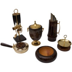 Aldo Tura Goatskin Barware Six-Piece Set