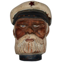 Hand-Carved Wooden Sea Captain Miniature Dated 1937
