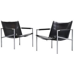 Martin Visser SZ01 Easy Chairs Black 't Spectrum, 1965