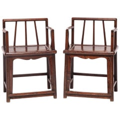 Pair of 19th Century Chinese Spindleback Chairs