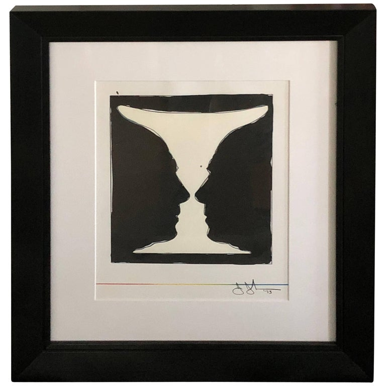 Mid-20th Century Signed Jasper Johns Lithograph, Cup Two Picasso, 1973