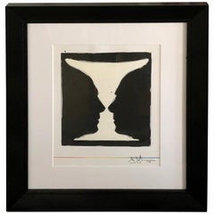 Mid-20th Century Stamp Signed Jasper Johns Lithograph, Cup Two Picasso, 1973