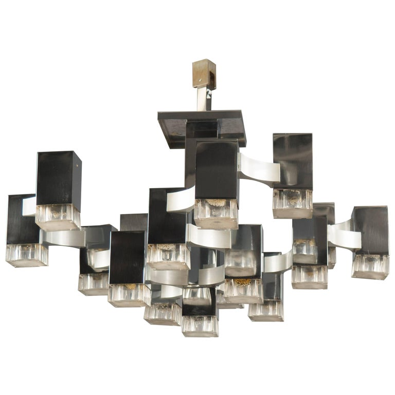 Ceiling Fixture by Sciolari, Italy, 1970s For Sale