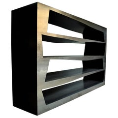 Modern, Milo, Minimalist Bookcase Handcrafted by Italian Artisans