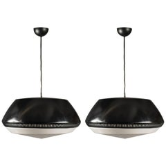 Pair of Ceiling Lights by Sergio Asti for Arteluce, Italy, 1950s
