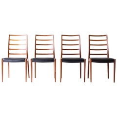 Niels O Moller Rosewood High Back Dining Chairs