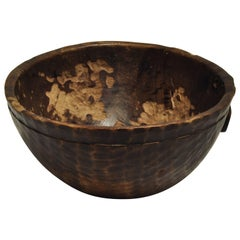 Tribal Wooden Bowl, Handhewn, from Mali, Mid-20th Century