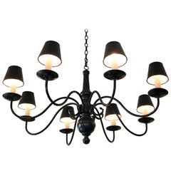 Dutch style Elegant Black Metal Chandelier