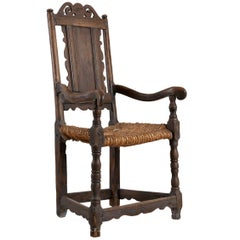Early, Swedish Allmoge Poker / Stove Chair, Origin: Sweden, circa 1750