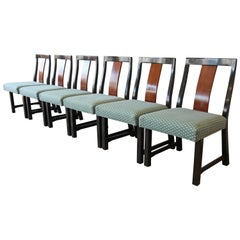 Edward Wormley for Dunbar Mid-Century Modern Dining Chairs, Set of Six