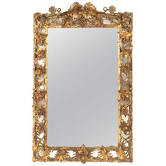 Italian Neoclassic '18th-19th Century' Gilt Rectangular Wall Mirror