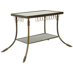 Italian Brass and Glass Coffee Table, 1950s