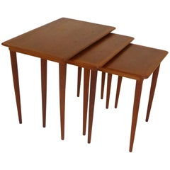 1950s Danish Teak Nesting Tables, Denmark.