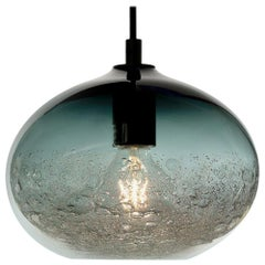 Modern Hand Blown Lighting, Grey Ellipse Bubble Pendant