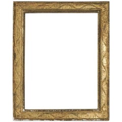 Fabulous 16th Century Italian Carved Gilded frame Mounted as Mirror, Italy, 1590