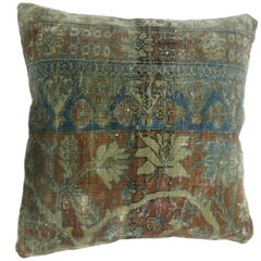 Persian Mohtasham Kashan Border Rug Pillow