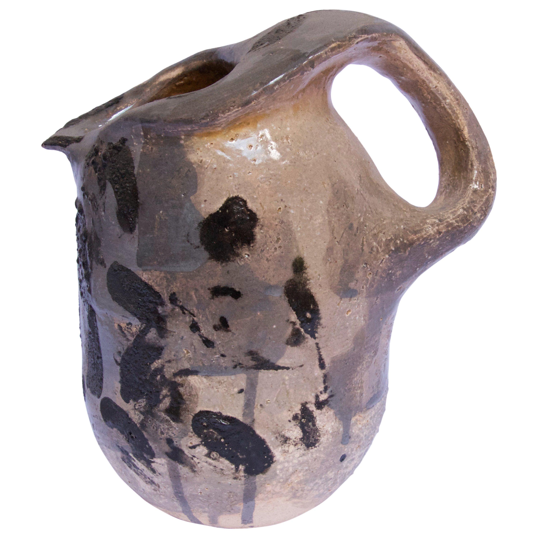 Contemporary Ceramic Colorful Pitcher Majolica Pottery Handmade