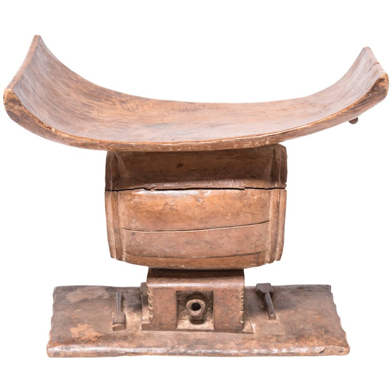 Nigerian Ashanti Drum Stool
