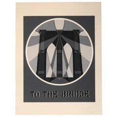 Mid Century Pop Robert Indiana Serigraph the Bridge from the American Dream 1964