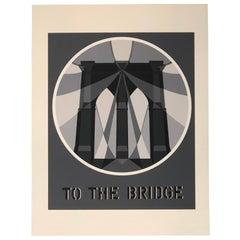 Modern Pop Art Famed Robert Indiana Serigraph The Bridge from the American Dream