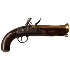 Late 18th Century New York Blunderbuss Pistol Made by J. Finch