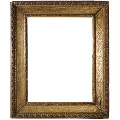 Late 16th Century Frame Mounted as Mirror, Carved Giltwood, Italy, 1580s